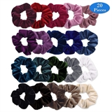 Picture of 20 Pcs Hair Scrunchies Velvet Elastics Velvet Bubbles Hair Bands Traceless Hair Ring Scrunchy Hair Ties 20 Colors Hair Accessories Ropes for Women or Girls